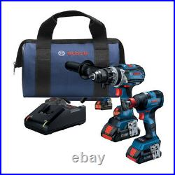 Bosch GXL18V-224B25 18V Combo Kit with 1/2 Hammer Drill & 1/2 Impact Driver