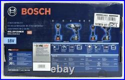 Bosch GXL18V-224B25 18V Cordless 2-Tool Combo Kit with 2 Batteries & Charger NEW