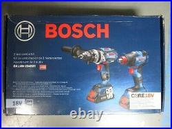 Bosch GXL18V-224B25 18V Cordless 2-Tool Combo Kit with Battery BRAND NEW