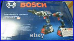 Bosch GXL18V-224B25 18V Cordless 2-Tool Combo Kit with Battery NEW DAMAGED BOX