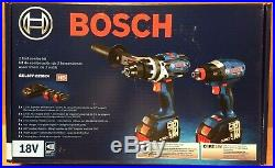 Bosch GXL18V-225B24 18-Volt 2-Tool Hammer Drill and Impact Driver Combo Kit