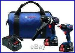 Bosch GXL18V-225B24 6.3 Ah Li-Ion Hammer Drill/Impact Driver Kit Brand New