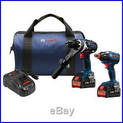 Bosch GXL18V-225B24-RT 18V 6.3 Ah Li-Ion Hammer Drill & Driver Kit Reconditioned