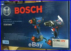 Bosch GXL18V-239B25 18 Volt 2-Tool Compact Hammer Drill & Impact Driver Combo