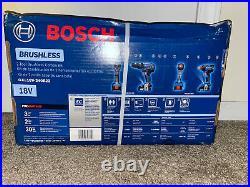 Bosch GXL18V-240B22 18V 2 Tool Compact Hammer Drill Driver & Impact Kit New