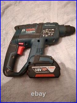 Bosch Gbh 18v-ec Brushless Cordless Sds Plus Hammer Drill+ 5.0ah Battery