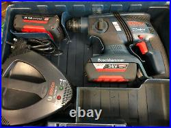 Bosch Gbh 36v-ec Brushless Sds Cordless Hammer Drill, 36 Volt With 2x Battery