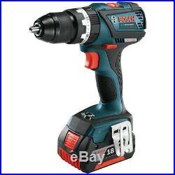 Bosch HDS18301RT 18V 4.0 Ah Li-Ion Tough 1/2 in. Hammer Drill Driver Kit Recon