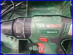 Bosch PSB18 LI-2 18v Hammer Combi Drill 2x2,5 Li -Ion Batteries+Charger Boxed
