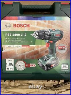 Bosch PSB 1800 LI-2 Cordless Hammer Drill & 70 Piece Accessories