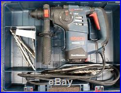 Bosch Rotary Hammer Drill With Bits And Instructions In Metal Case