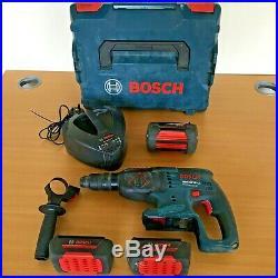 Bosch SDS Hammer Drill GBH 36 VF-LI 36v Drill 3 X Batteries Li-ion Charger Case