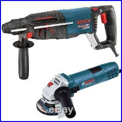 Bosch Tools 11255VSR-GWS8 1 SDS-plus Rotary Hammer + 4.5 Angle Grinder New