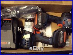 Brand New Bosch CLPK222-181 18V Li-Ion 2 Tool Combo Kit Hammer Drill + Impact