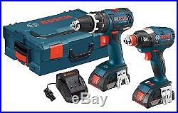 Brand New Bosch CLPK250-181L 18V Li-Ion Brushless Hammer Drill & Impact Driver