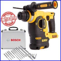 Dewalt DCH253N SDS+ Rotary Hammer Drill Body + Bosch 11pcs SDS+ Drill Bit Set