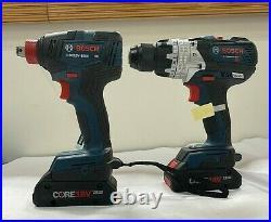 NEW BOSCH GXL18V-226B25 2 Tool Combo Kit Hammer Drill Driver+Impact Driver