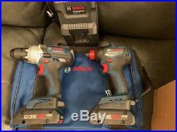 NEW BOSCH GXL18V-226B25 2 Tool Combo Kit Hammer Drill Driver+Impact Driver NEW