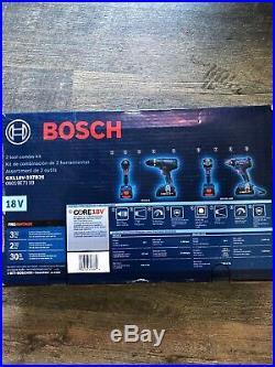 NEW Bosch 18V 2-Tool Combo Kit GXL18V-237B25 hammer drill & impact driver