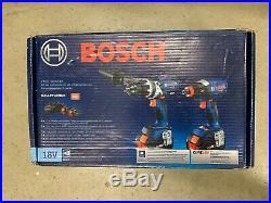 NEW Bosch 18V Core 6.3 Ah Li-Ion Hammer Drill / Impact Driver Kit GXL18V225B24