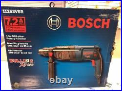 New Bosch 11253vsr Rotary Electric Hammer Drill Kit 1 Sds Plus Bulldog Xtreme