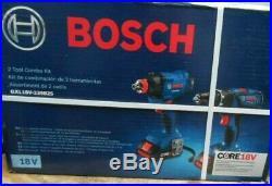 New Bosch 2 Tool Combo Kit GXL18V-239B25 18V Hammer Drill & Impact Drill (New)
