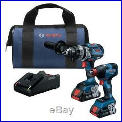 New Bosch GXL18V-224B25 18V Cordless 2-Tool Combo Kit