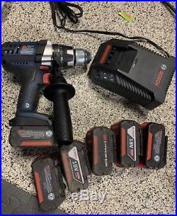 New Bosch HDH181X 18V 1/2 Hammer/Drill Li-Ion 2 Speed. 6 Batteries