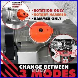 PTS Corded Rotary Hammer Drill 126mm 10Amp 110V Combination Rotary Hammer