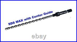 SDS MAX adapter 4 core bits with guide fits bosch, hilti, Milwaukee hammer drill